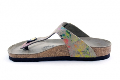 birkenstock boston flower crush taupe